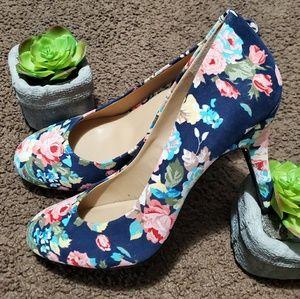 Kelly & Katie Floral Prints Heels